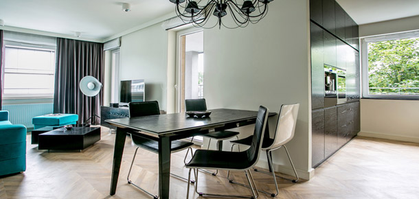 Apartament we Wrocławiu. Projekt: Jabra Architects