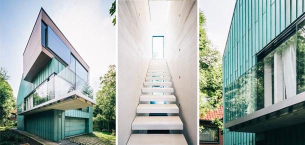 Dom architektów w Parku Klecińskim. Architekci: ArC2 Fabryka Projektowa. Zdj. Jarosław Ceborski