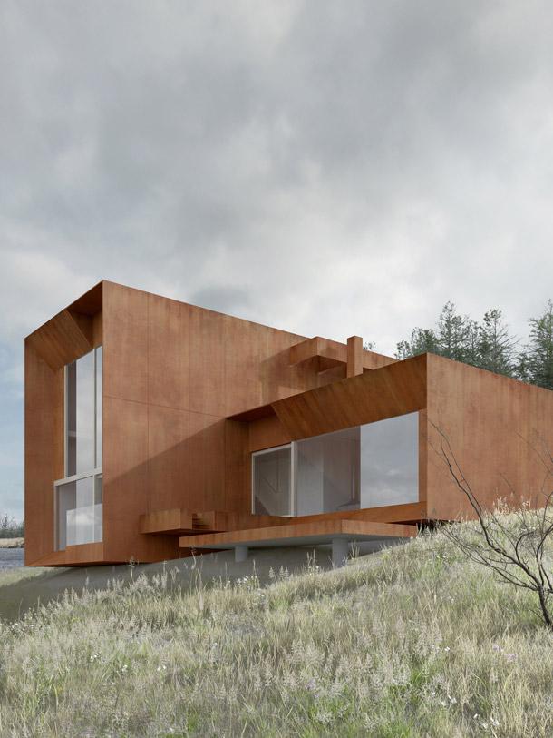 Dom na Bergach w Chodzieży. Autorzy: Studio Projektowe DeMateria