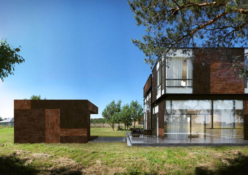 Dom w Bronisinie Dworskim. Projekt: Reform Architekt