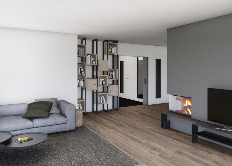 Aranżacja wnętrz domu w Lesznie. Projekt: Adam Wierciński Architekt