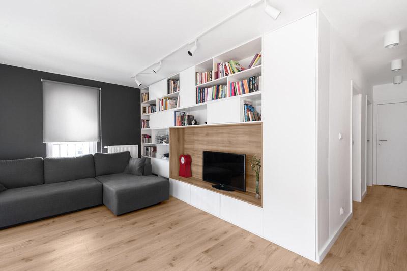 Wnętrze mieszkania MiM w Lublinie. Projekt: 081 Architekci