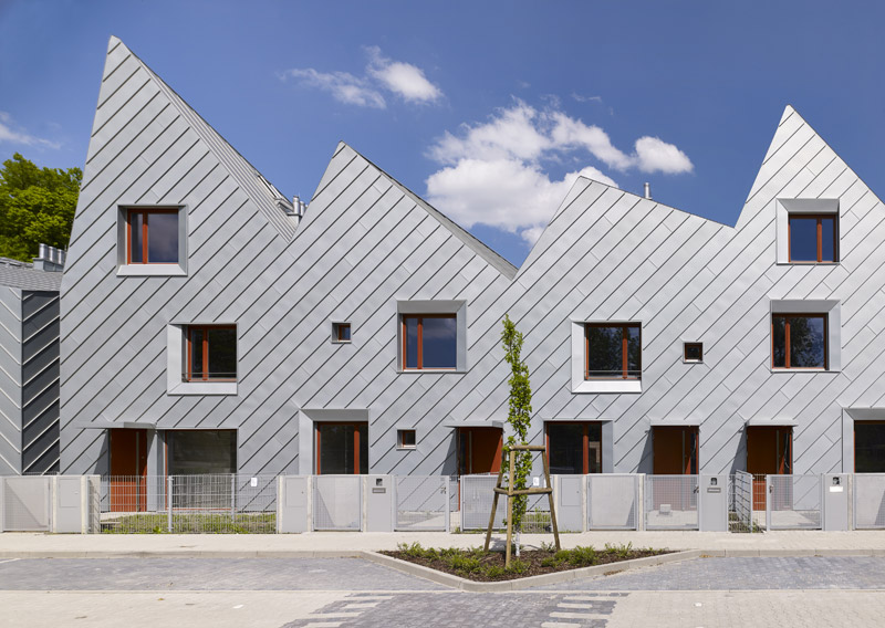Osiedle domów mieszkalnych MIKMAK we Wrocławiu. Projekt: ArC2 Fabryka Projektowa