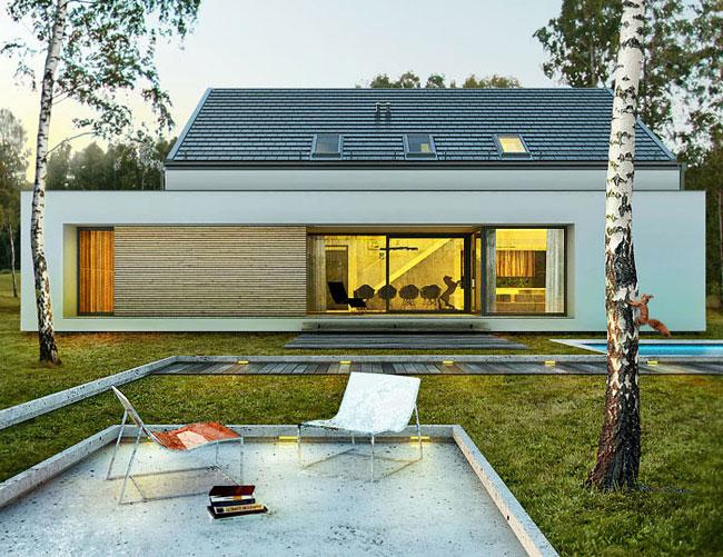 projekty nowoczesnych dom w pracowni doomo. Black Bedroom Furniture Sets. Home Design Ideas