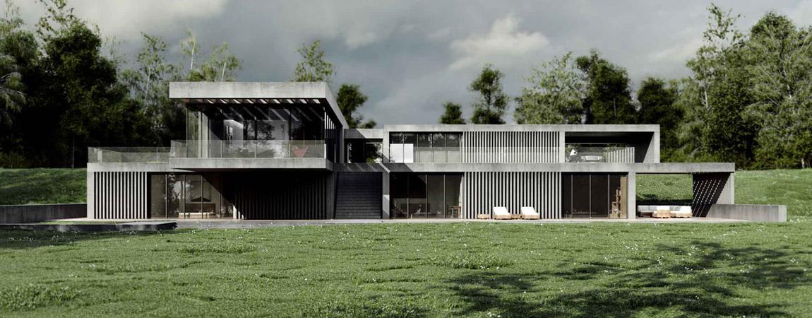 Dom w lesie. Projekt: Easst.com