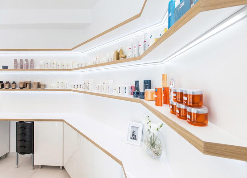 Salon fryzjerski w Żorach. Projekt: Musk Collective Design