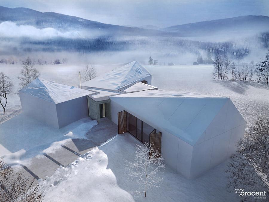 Dom G z widokiem na 26 beskidzkich szczytów