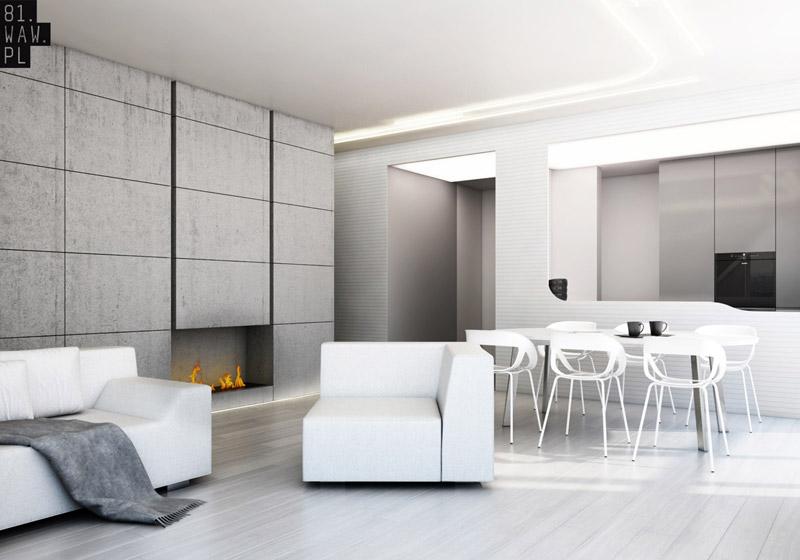 Aranżacja wnętrza mieszkania. Projekt: 81.WAW.PL
