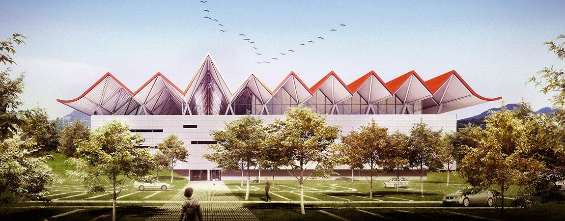 Centrum Badmintona w Daegu. Projekt: BXBstudio Bogusław Barnaś