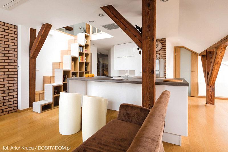Wnetrza Mieszkania Na Poddaszu Projekt Cat Inside