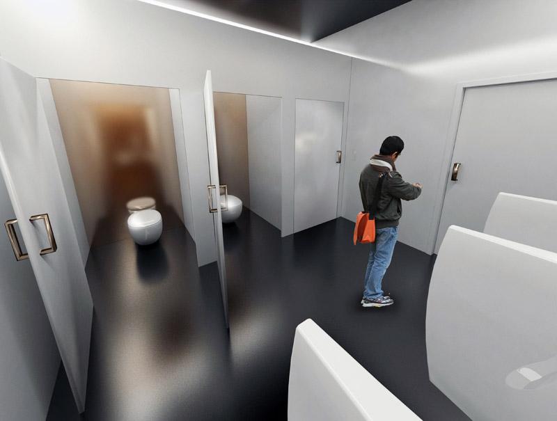 Toaleta miejska KOŁO przy bulwarze nadmorskim w Gdyni. Projekt: Dawid Chojnacki