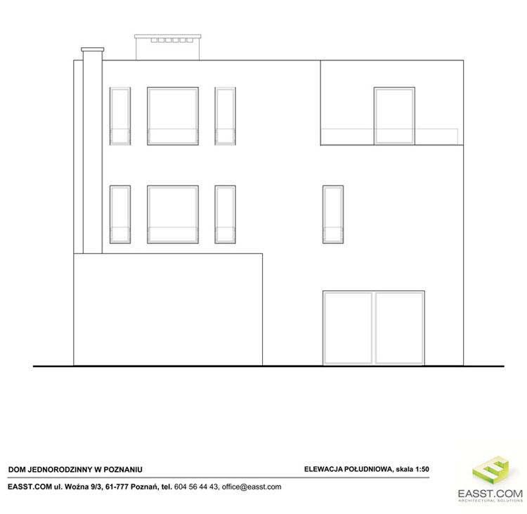 Dom jednorodzinny w Poznaniu. Projekt: Easst.com