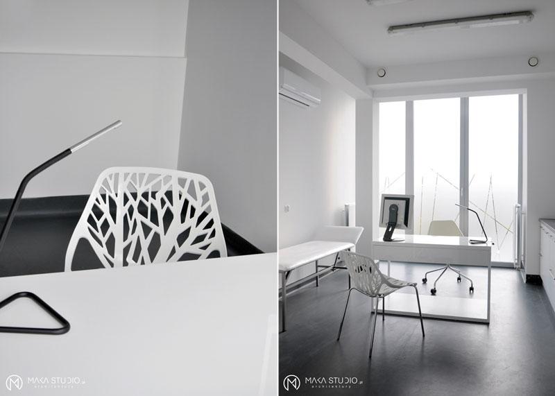 Wnętrza gabinetów lekarskich projektu MAKA Studio