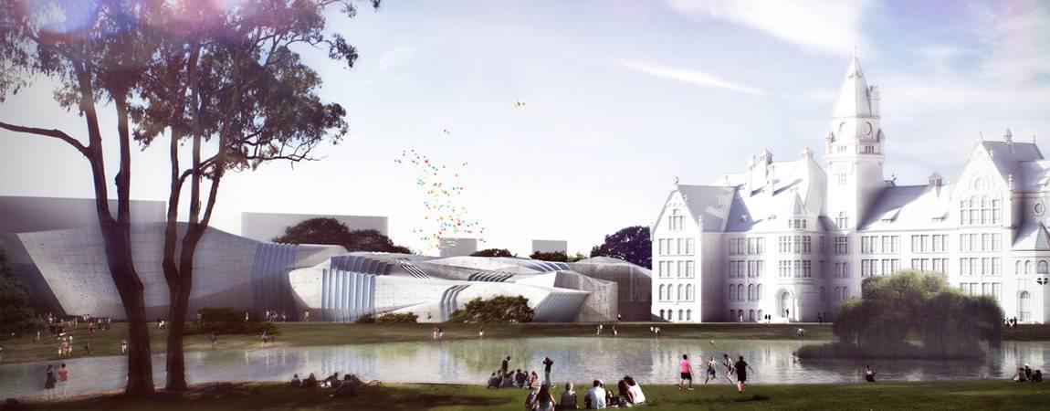 Dyplomy Architektury: Nowy Wydział Architektury dla Wrocławia projektu Marcina Kitali