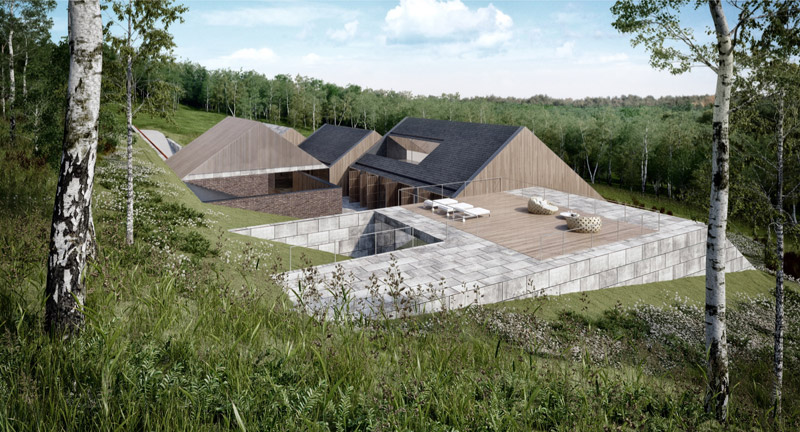 Willa letniskowa NEST. Projekt: Mobius Architekci