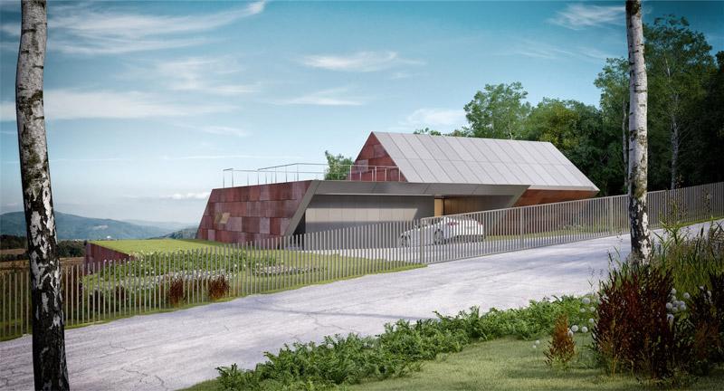 Willa w górach SLANT. Projekt: Mobius Architekci