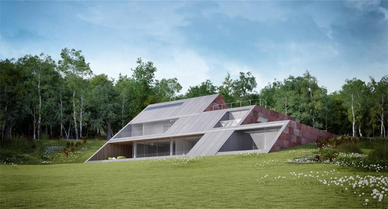 SLANT - Willa w górach. Projekt: Mobius Architekci