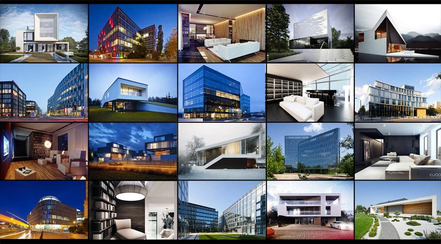 Projekty architektoniczne publikowane na portalu Archinea