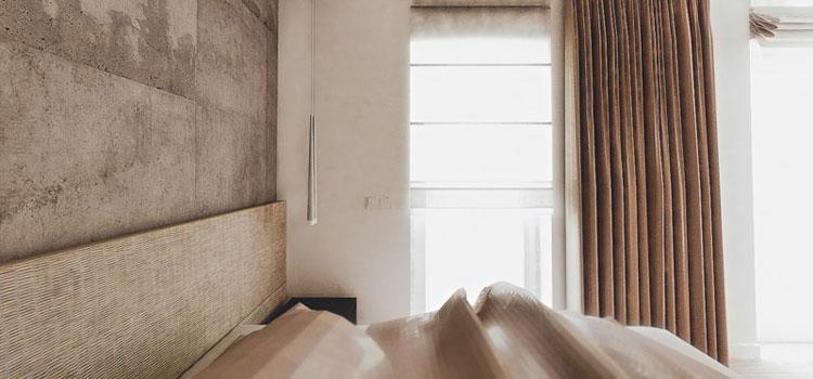 Minimalistyczna sypialnia