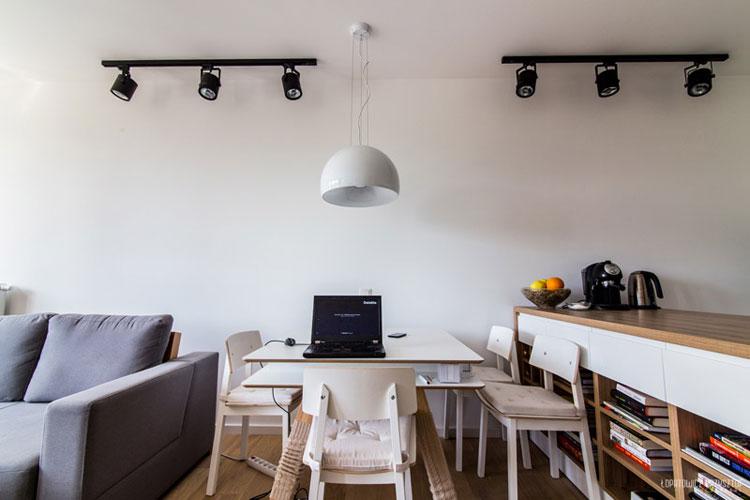Wnętrza mieszkania inspirowanego Skandynawią