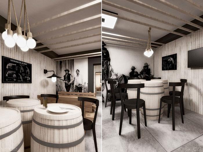 Wnętrze restauracji Dalton's Place. Projekt: SNCE Studio