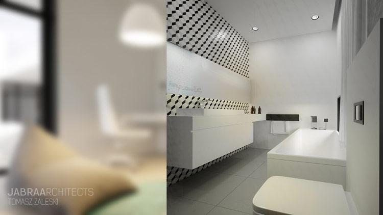 Wnętrza Domu w Żłobiźnie. Projekt: JABRAARCHITECTS
