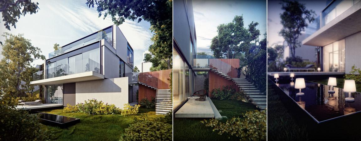 Dom Światłoczuły. Projekt: KMA Kabarowski Misiura Architekci