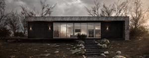 Minimalistyczny dom na wsi