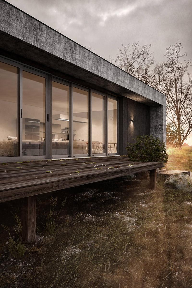 Dom na wsi. Projekt: Yevhen Zahorodnii