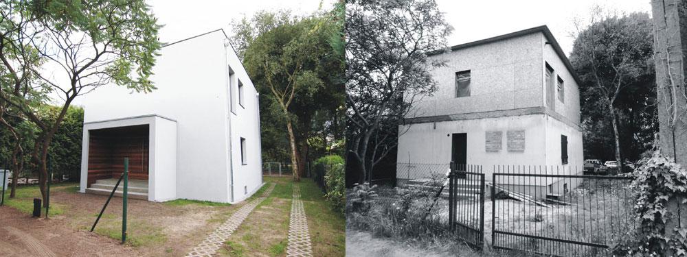 Projekt przebudowy elewacji domu jednorodzinnego w Kiekrzu. Pracownia: ONE Architekci