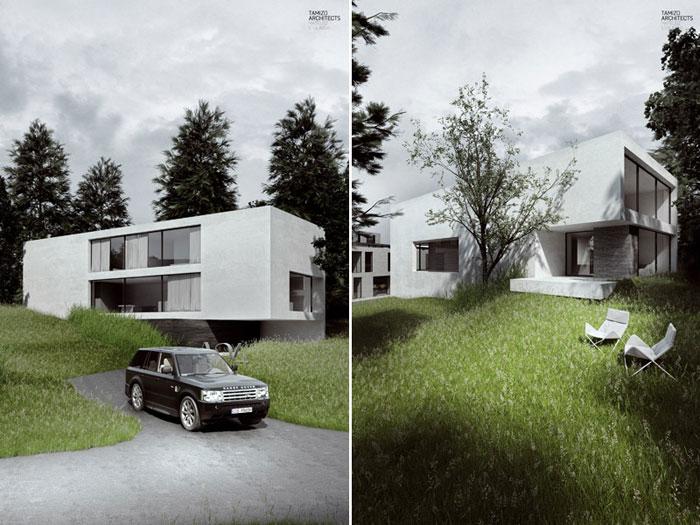 Ekskluzywne osiedle mieszkaniowe w Tbilisi. Projekt: Tamizo Architects Mateusz Stolarski