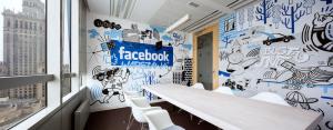 Wnętrza biur polskiego oddziału firmy Facebook