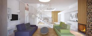 Projekt wnętrza domu jednorodzinnego we Wrocławiu – One Architekci