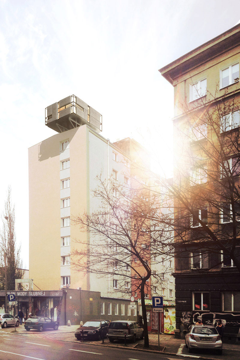 Dom dla młodych - Marzenie młodego pokolenia. Projekt: Jakub Pakos & Aleksandra Waligóra