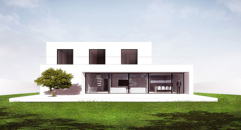 Dom Energo pod Rzeszowem. Projekt: BXBstudio Bogusław Barnaś