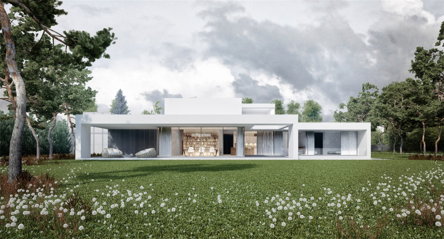 FRAME - Dom pod Warszawą. Projekt: Mobius Architekci