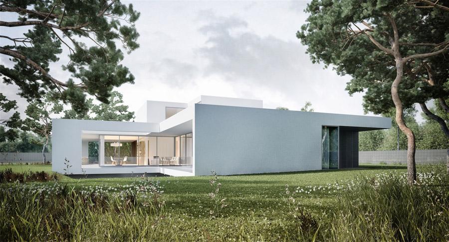 Dom jednorodzinny FRAME. Projekt: Mobius Architekci
