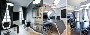 Nowoczesne wnętrza biur firmy A.T. Kearney projektu TiM Grey Interior Design