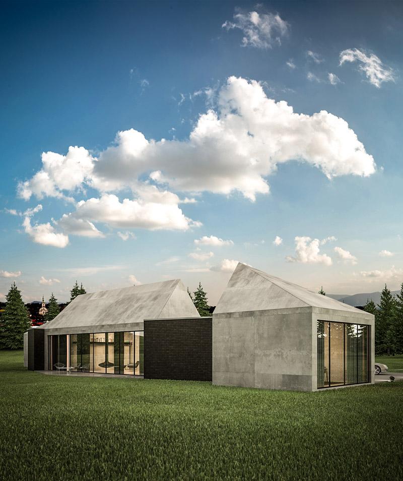 Dom z widokiem na Beskidy. Projekt: 3xEL Architekci
