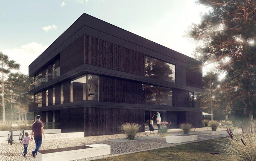 Projekt zespołu minimalistycznych apartamentowców. Pracownia: Minimal Architects
