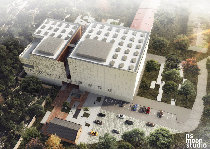 Nowa siedziba Archiwum Narodowego w Krakowie. Projekt konkursowy: nsMoonStudio
