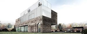 Dom z ćwierć kolebką projektu Andrzeja Niegrzybowskiego