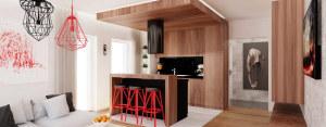 Wnętrze pokazowego mieszkania w Dąbrowie Górniczej – Ale Design Grzegorz Grzywacz