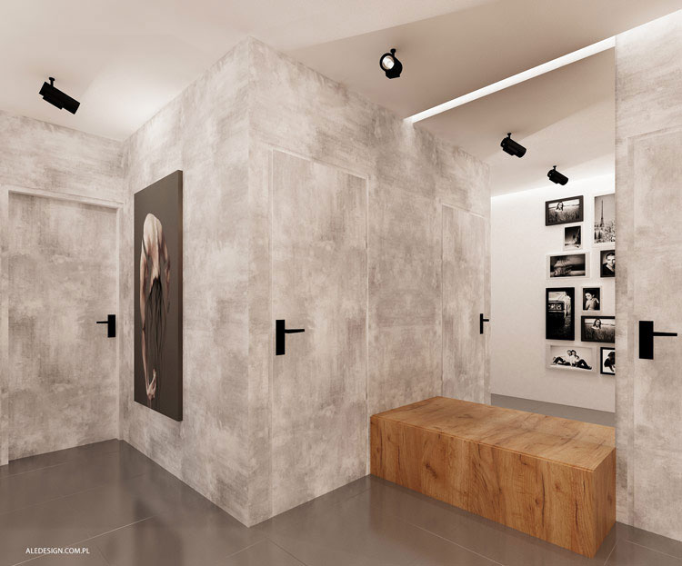 Wnętrze pokazowego mieszkania w Dąbrowie Górniczej. Projekt: Ale Design Grzegorz Grzywacz