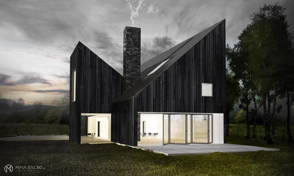 Dom na Pomorzu. Projekt: MAKA Studio