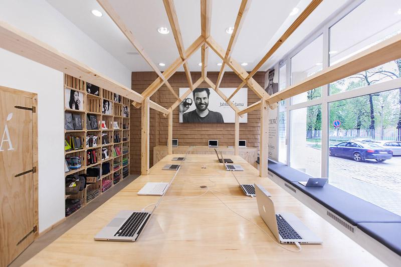 Jabłka Adama – Apple Computer Store. Projekt: mode:lina architekci