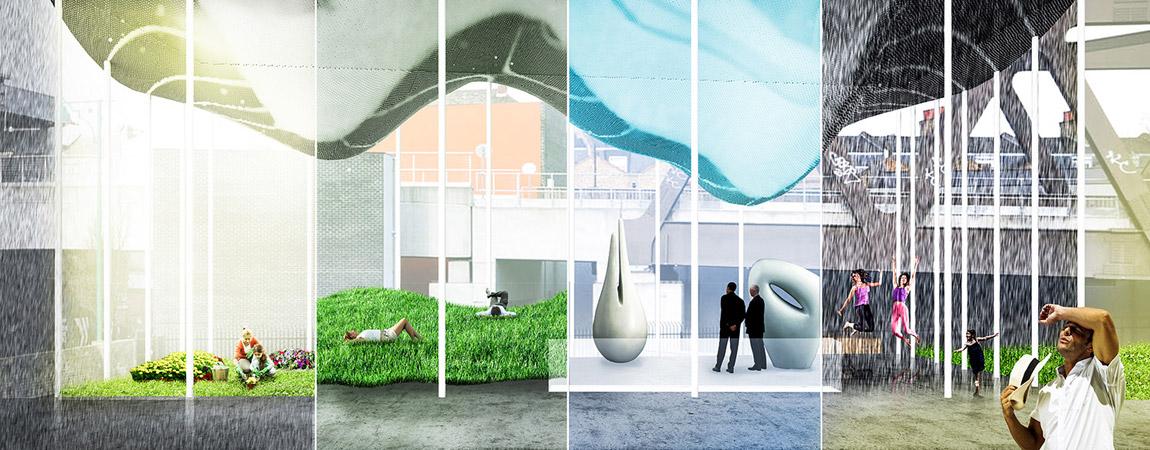 Urban Cloud - London Shoredith Station. Projekt: BXBstudio Bogusław Barnaś