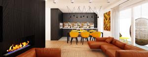 Wnętrza mieszkania w budynku Villa Lux projektu Grzegorza Grzywacza