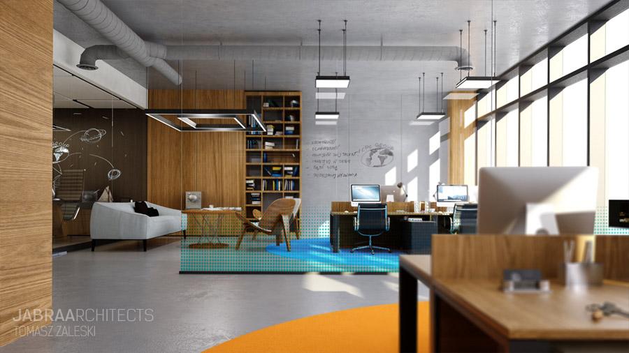 Wnętrza biur CPC Group. Projekt: JABRAARCHITECTS