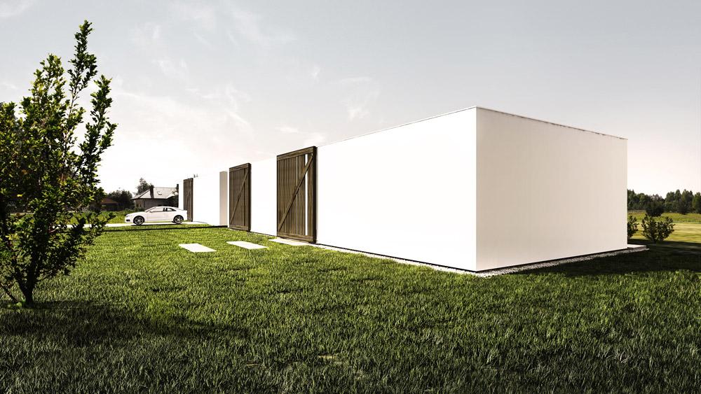 Dom Horyzontalny. Projekt: Libido Architekci
